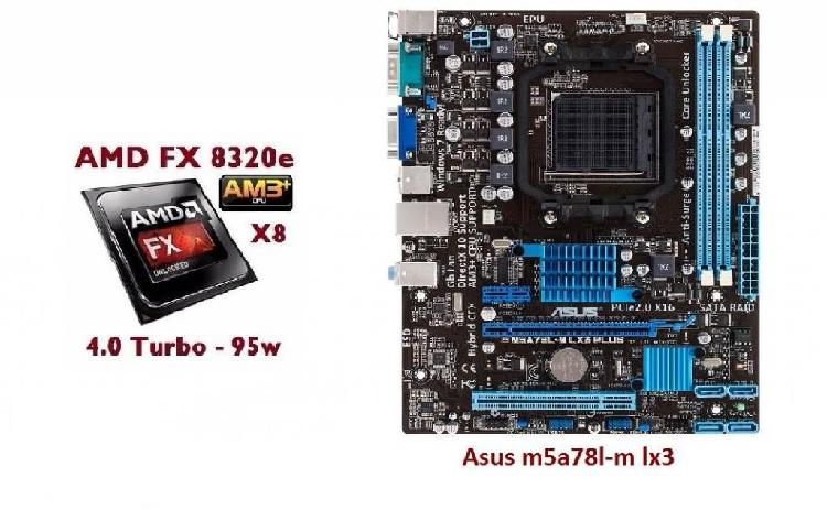 Combo Board Asus M5a78l-m Lx3 Amd Fx 8320e