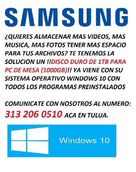 DISCO DURO PARA PC DE MESA SAMSUNG 1TB (1000GB)