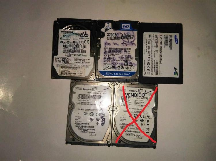 Discos Duros Para Portátiles y Tarjetas RAM DDr3 4GB y 8GB