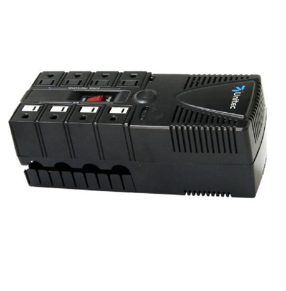 Regulador de Voltaje Unitec U-1200 8 Tomas