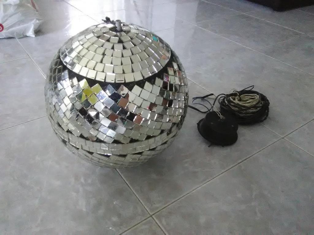 Bola esfera de espejos con motor