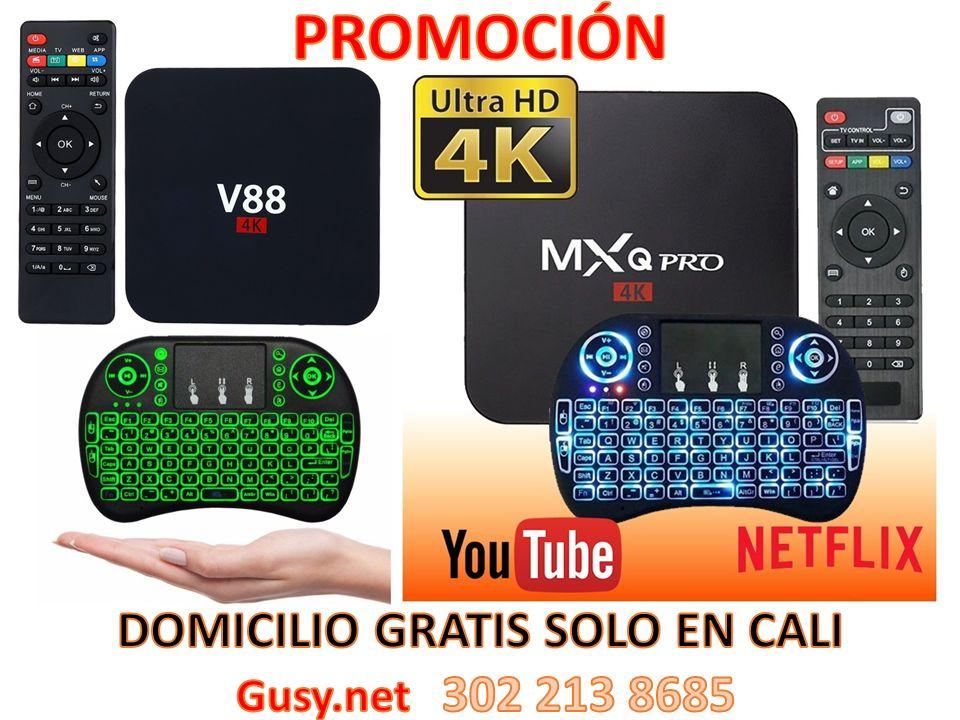COMBO TV BOX TECLADO MOUSE INALAMBRICO CON LUZ NUEVOS