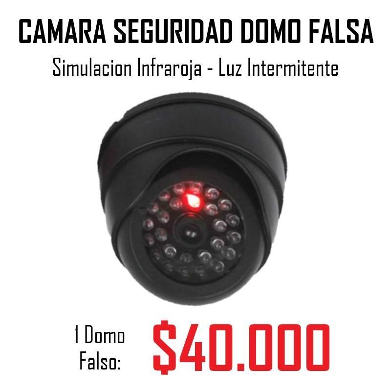 Camara Seguridad Falsa Domo Infrarrojo. NOTA: CÁMARA FALSA