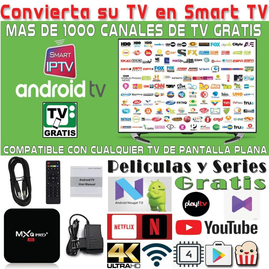 Convierta su TV actual en un SMART TV (Television Gratis sin