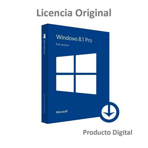 Licencia Original Windows 8.1 Pro 32-64 Bits 1pc