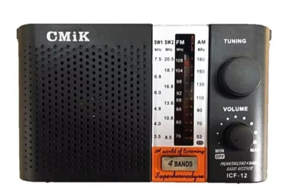 Radio Icf 12 4 Bandas a Pilas O Luz 220v