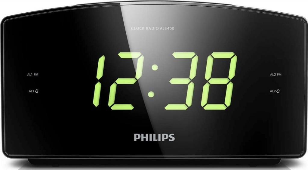 Radio Reloj Despertador Philips Aj Digital Fm Lcd.