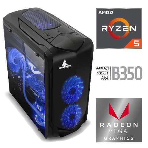 Torre Cpu Gamer Amd Ryzen 5 2400g Radeon Vega 11 1tb 8gb Pc