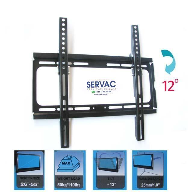 base soporte de pared para tv desde 32 a 55 pulgadas
