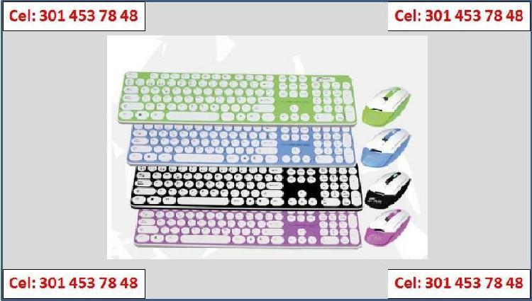 Combo Teclado y Mouse Multimedia - Inalámbrico