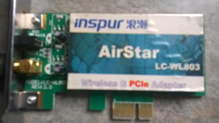tarjeta de red inalambrica PCI Express X1 Airstars usada