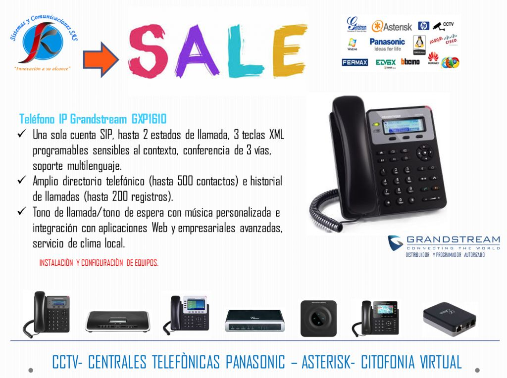 TELÉFONO IP GRANDSTREAM GXP  PROMOCIÒN!