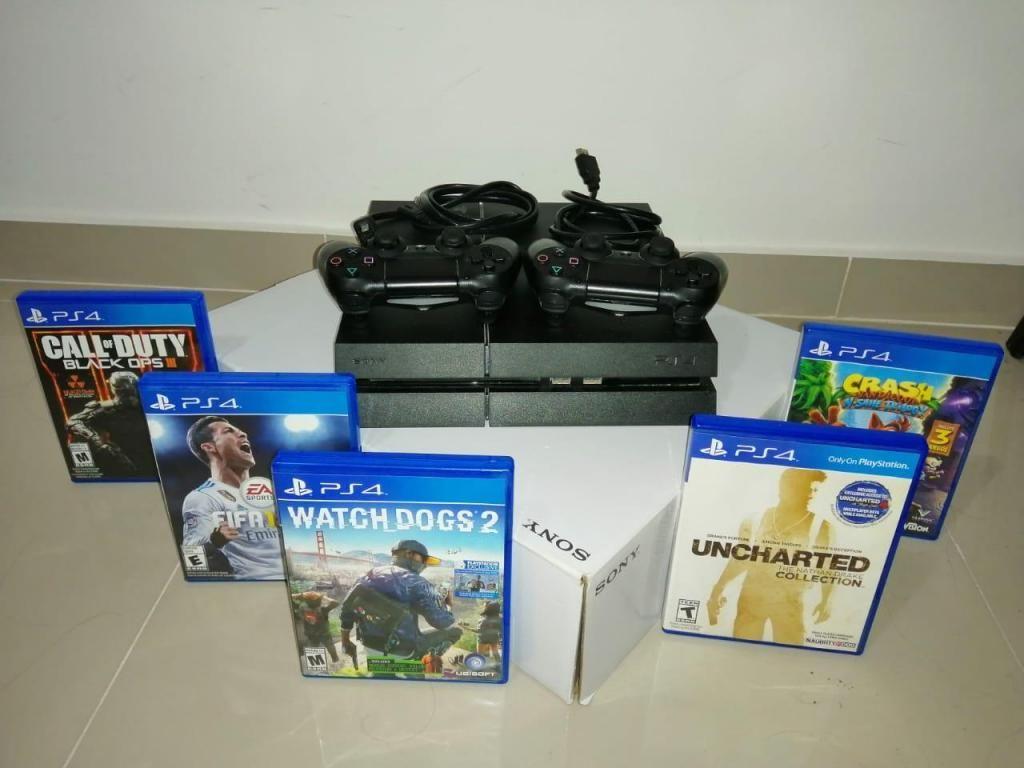 PS4 - 1TB 5 Juegos Físicos