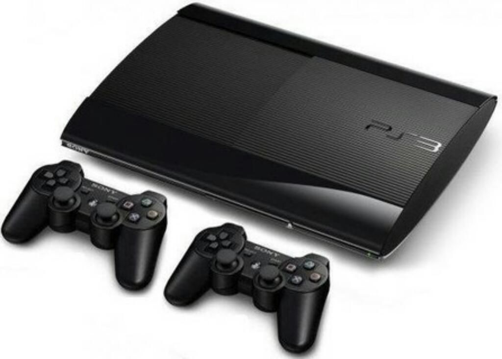 Ps3 Super Slim 500 Gb 2 Controles
