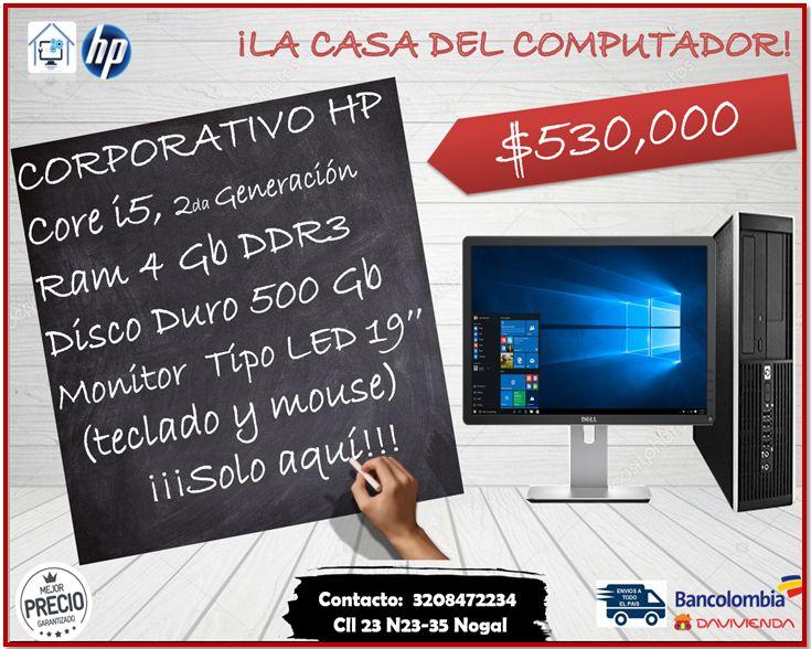 COMPUTADOR CORPORATIVO HP CORE I5, SEGUNDA GENERACION,