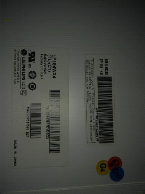 Pantalla Lp154wx4 para portátil 14 pulgadas marca Lg le