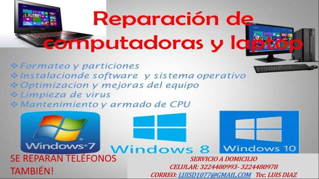 mantenimiento de computadores y portátiles