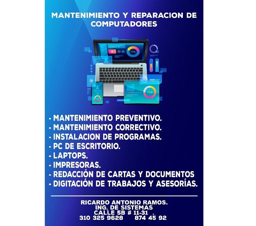 REPARACION Y MANTENIMIENTO DE COMPUTADORES.