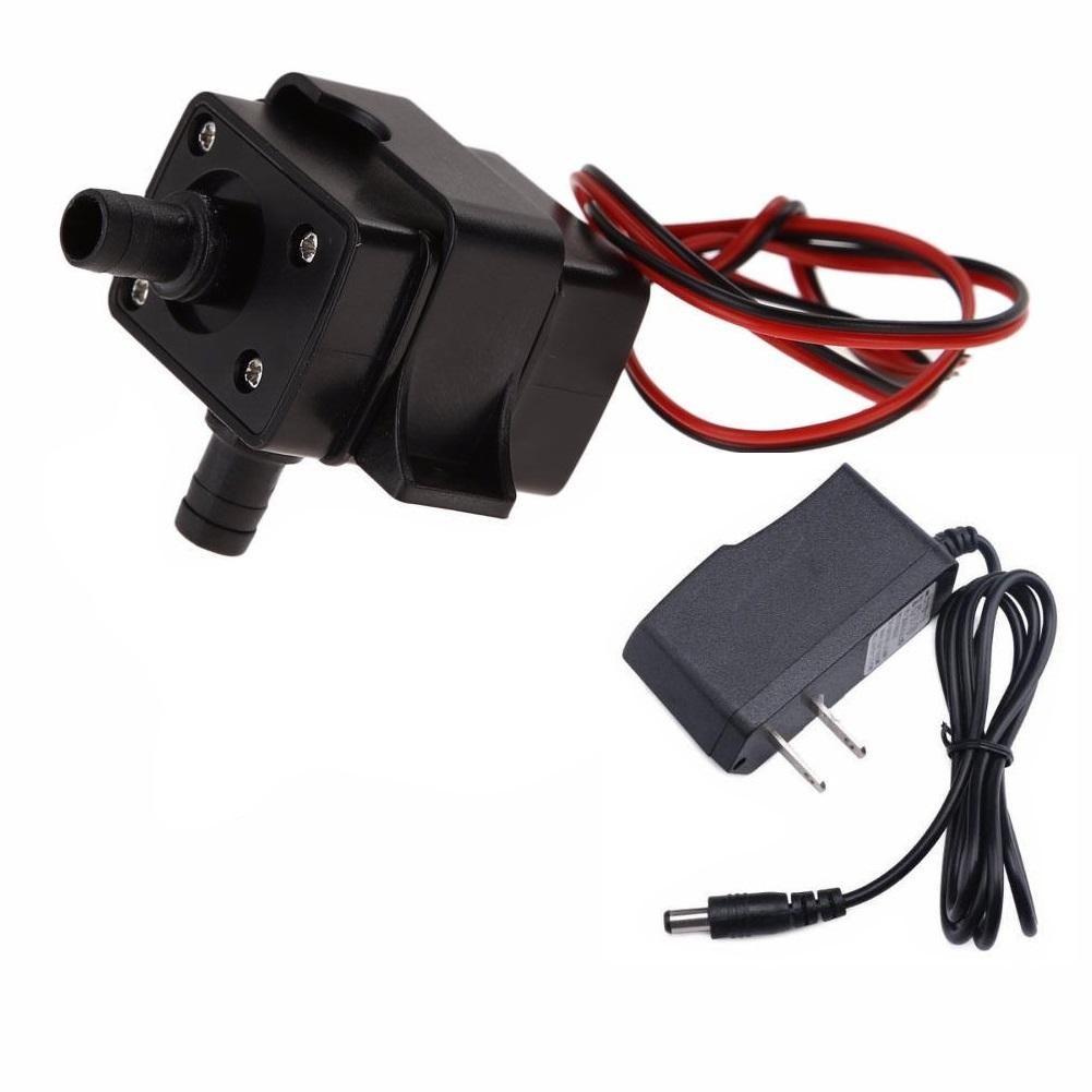 Minibomba De Agua Dc 12 V Sumergible y Adaptador 12v