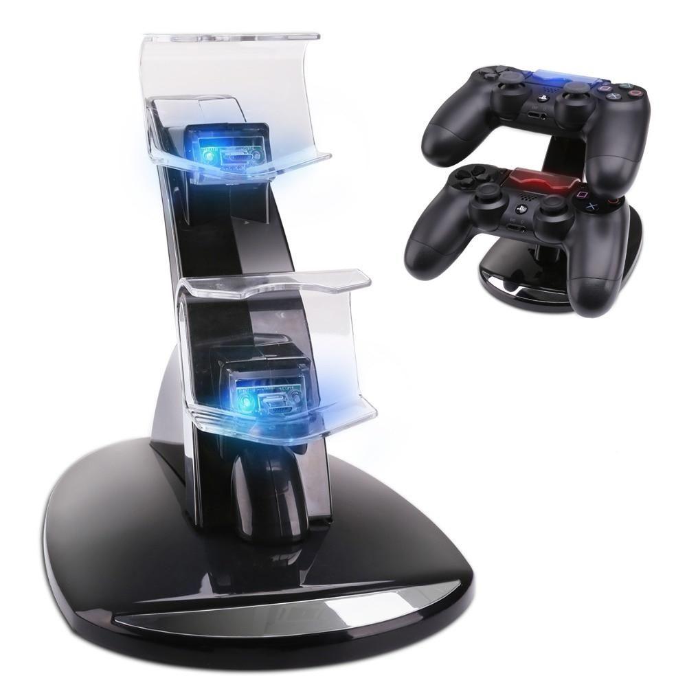 Cargador Dual controles PS4, PS4 PRO, PS4 SLIM