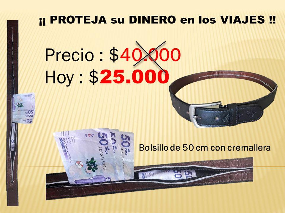 Correa Cinturón Con Bolsillo Interior Oculto - Viajes
