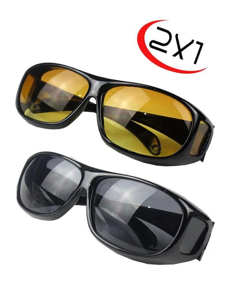 Gafas De Conducir Hd Polarizada 2x1 Dia Y Noche 2 Pares...