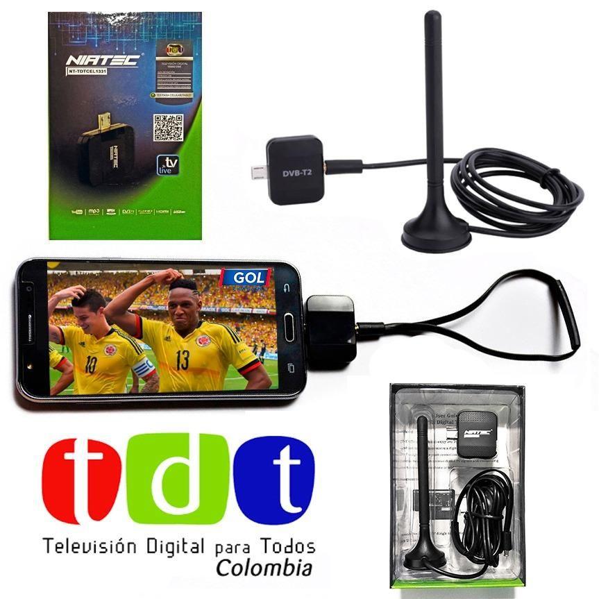 Sintonizador Tdt Para Celular O Tablet Dvb T2 2 Antenas