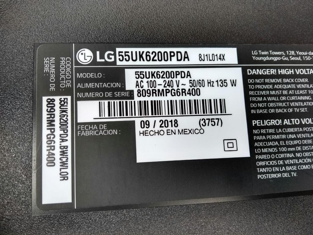 Tv Lg 55ukpda para Repuesto