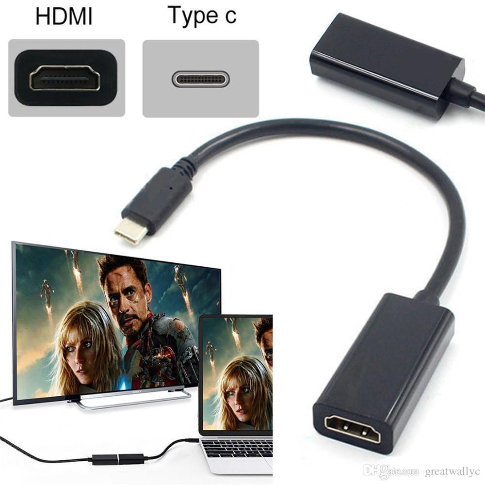 ADAPTADOR CONVERTIDOR USB C tipo C a HDMI 3,1 macho a HDMI