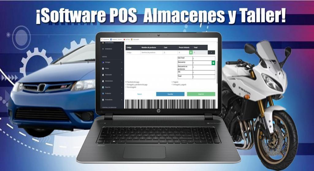 Software POS para Almacen y Taller
