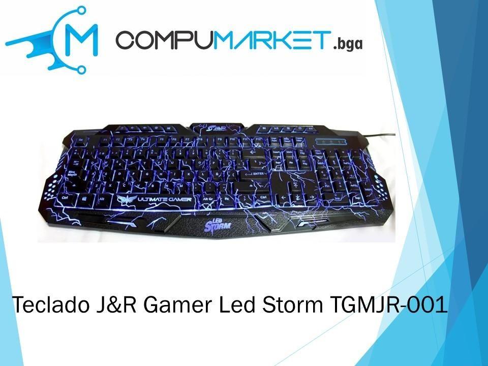 Teclado J&R Gamer Led storm TGMJR-001 nuevo y facturado