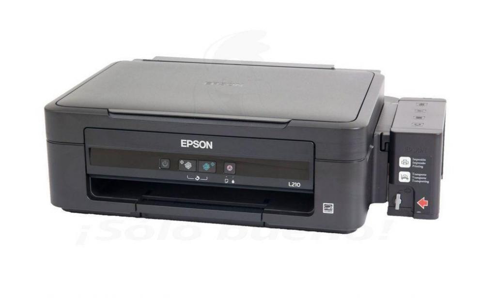 impresora EPSON L210 con inyecciones.