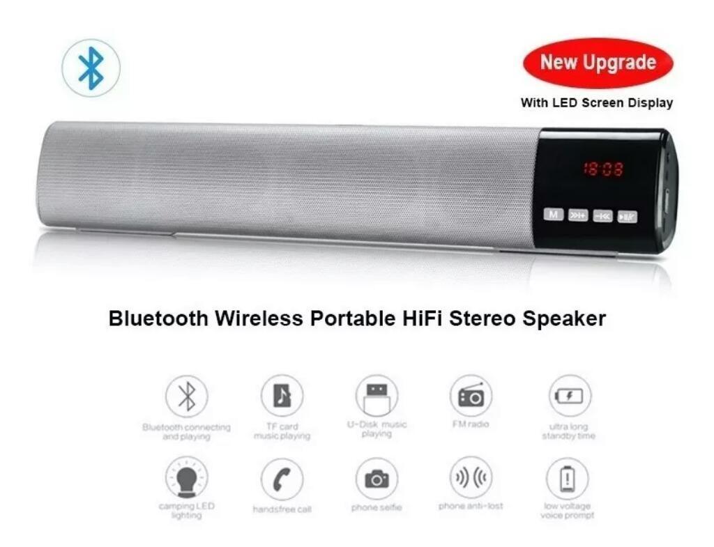 Barra de Sonido B28s Lcd Bluetooth