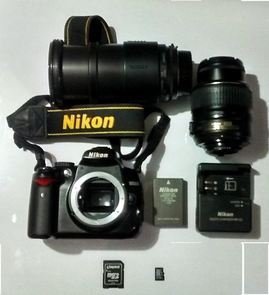 Vendo Cámara Profesional Nikon D lentes.