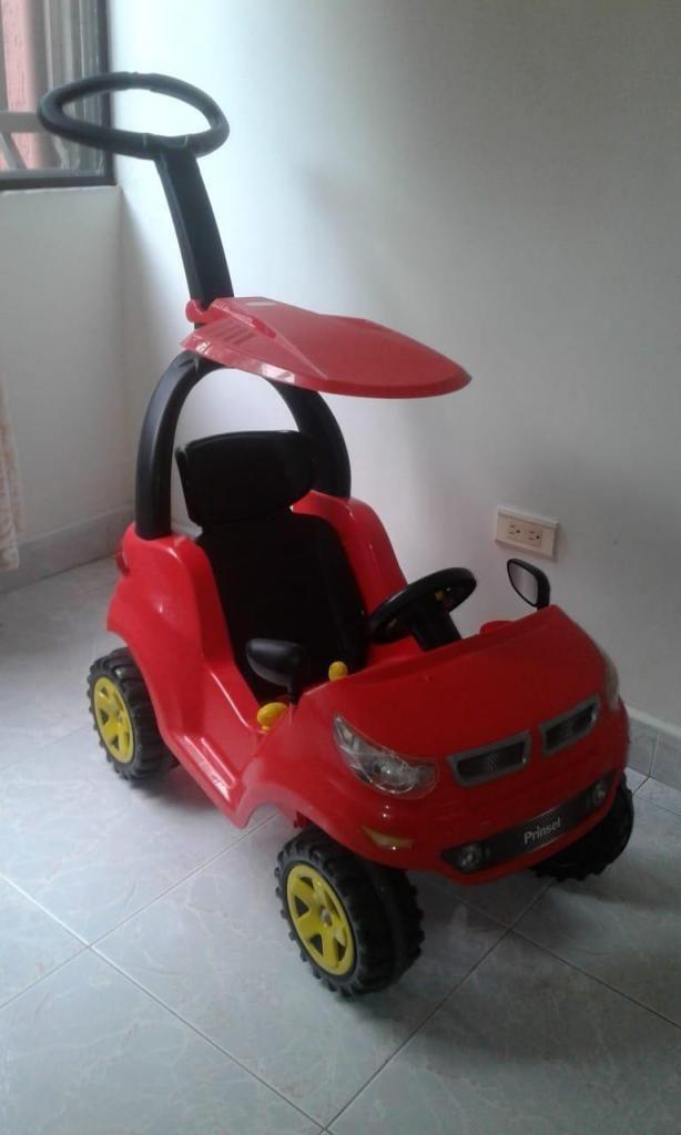Carro Montable Paseador Cochecito Sonidos Infantil Rojo