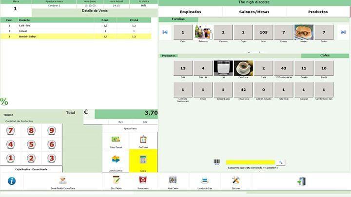 Software Pos facturación para administrar cafeterías