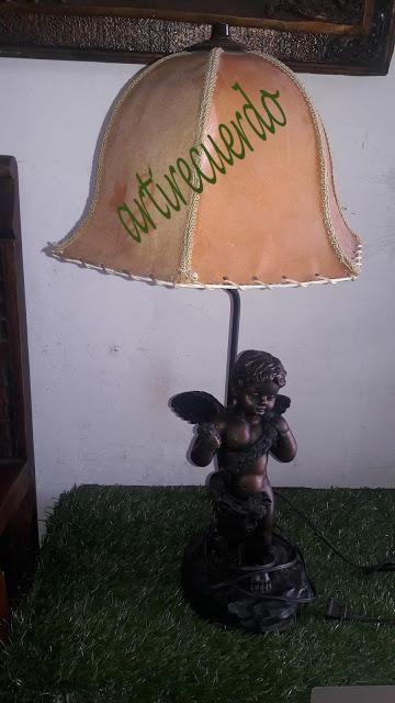 Hermosa lampara de angel estilo frances