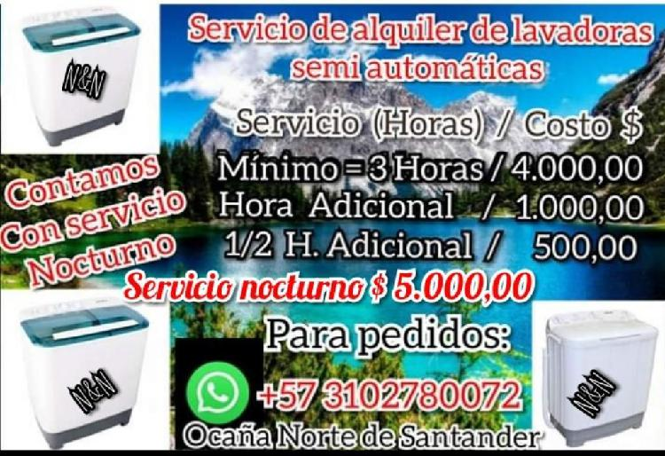 Alquiler de Lavadoras Semiautomáticas