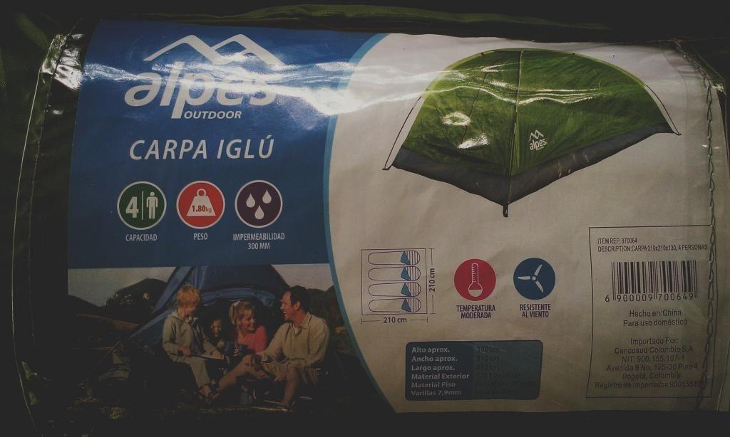 Carpa de Camping Alpes / 4 Personas