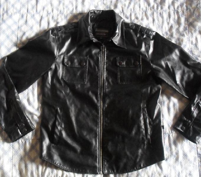 Chaqueta negra cuerotex second image talla m y s