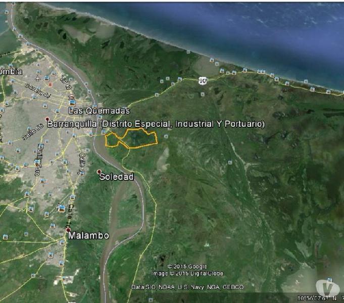 SE VENDE LOTE 154 HECTAREAS ZONA FRANCA INDUSTRIAL SOBRE RIO