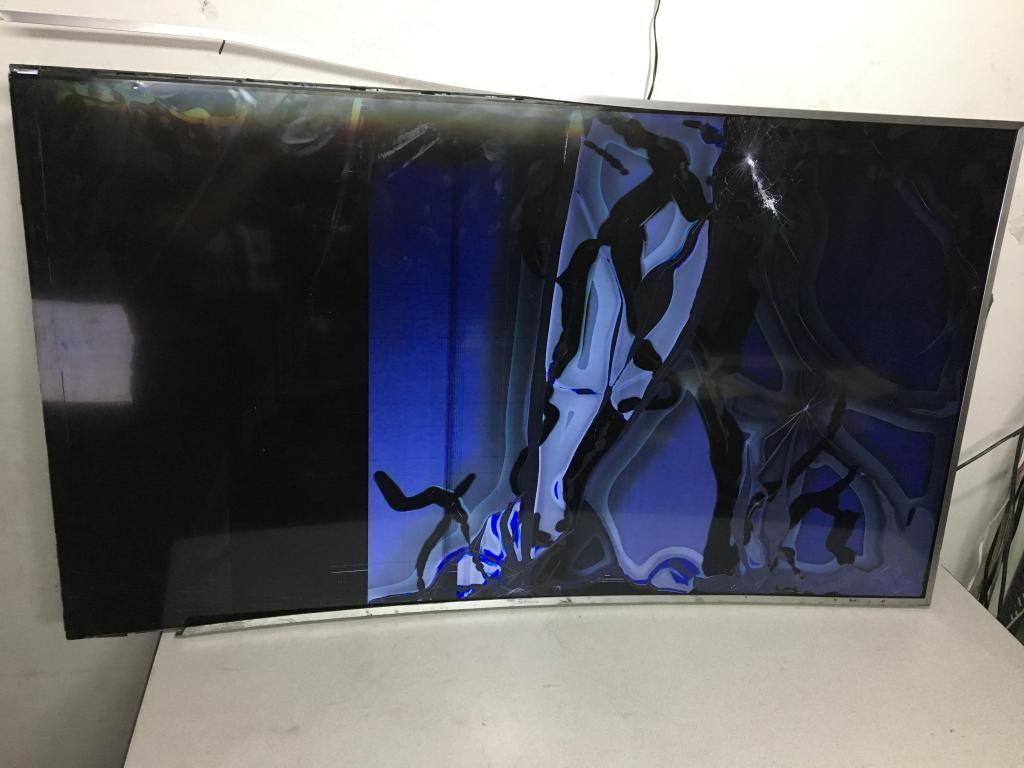 Tv Samsung Led Curvo Un55kuk Pantalla Rota Prende