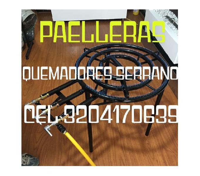 quemadores especiales para paelleras y paelleras en aluminio