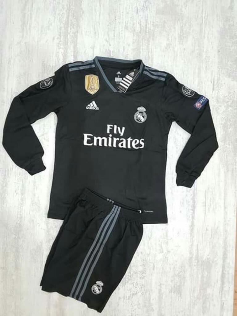 Camiseta Real Madrid Negra Hombre