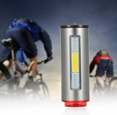 bicicleta luz trasera aluminio USB recargable Luces de