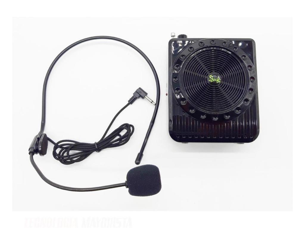 PARLANTE BLUETOOTH CON MICROFONO USB / MICROSD / RADIO FM