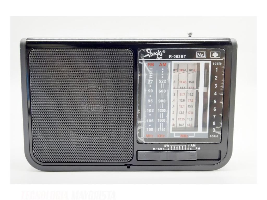 RADIO AM - FM / USB / MICROSD CON PANEL SOLAR - R-063BT