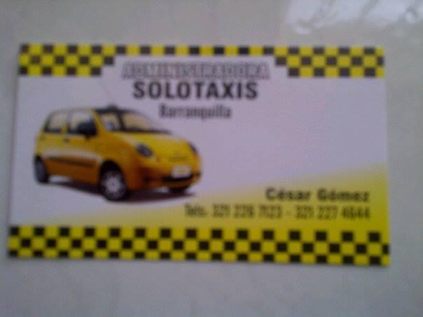 """ADMINISTRACION DE TAXIS EN BARRANQUILLA """"SOLOTAXIS"""""""