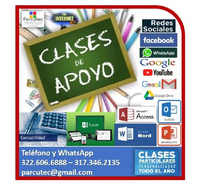 CLASES DE APOYO EN SISTEMAS Y CONTABILIDAD