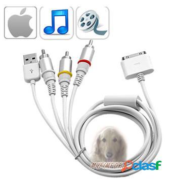 Cable de Audio y Video para Ipad y Iphone 4
